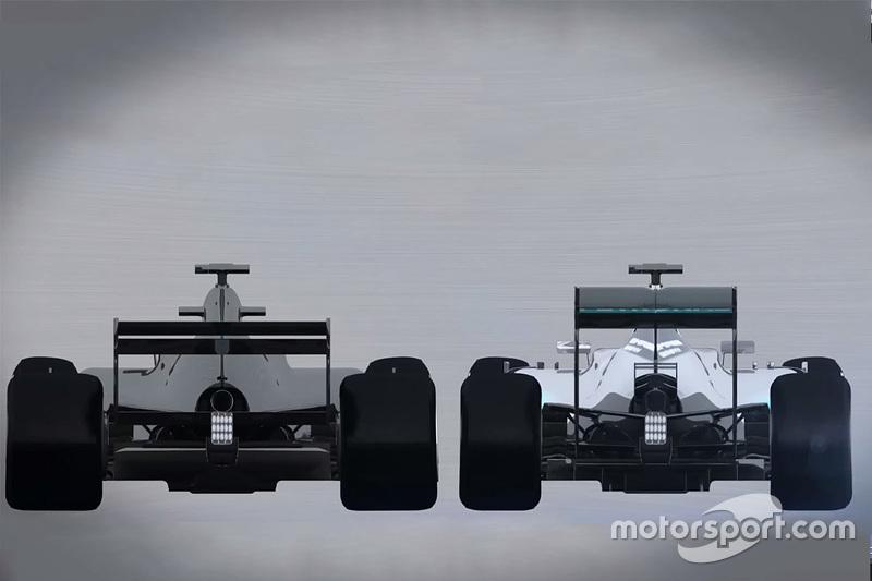 Komparasi Mobil F1 2017 dengan Mobil F1 musim 2015