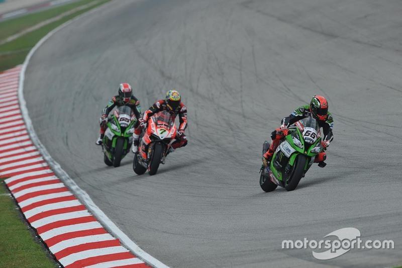 Tom Sykes, Kawasaki, Chaz Davies, Ducati Team dan Jonathan Rea, Kawasaki