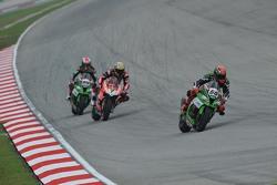 Tom Sykes, Kawasaki, Chaz Davies, Ducati Team and Jonathan Rea, Kawasaki