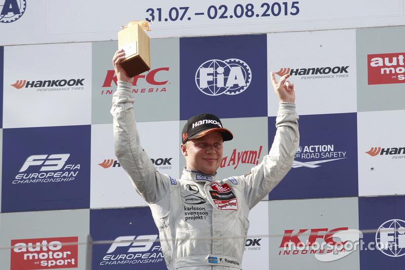 Race winner Felix Rosenqvist, Prema Powerteam Dallara Mercedes-Benz