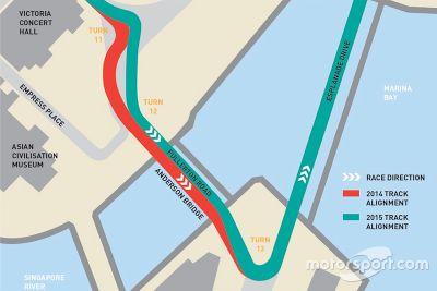 Diseño revisado para GP de Singapur