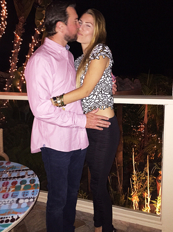 Kurt Busch con Ashley Van Metre