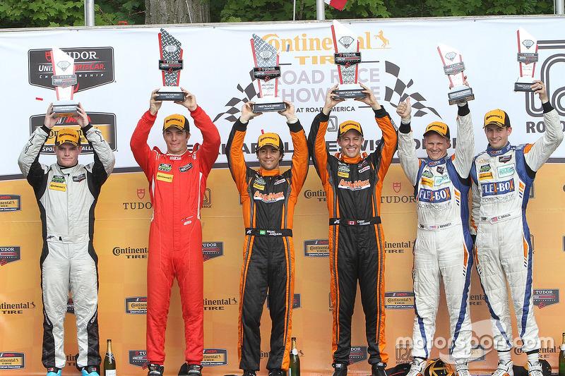 PC podium: winners #11 RSR Racing Oreca FLM09 Chevrolet: Chris Cumming, Bruno Junqueira, peringkat k