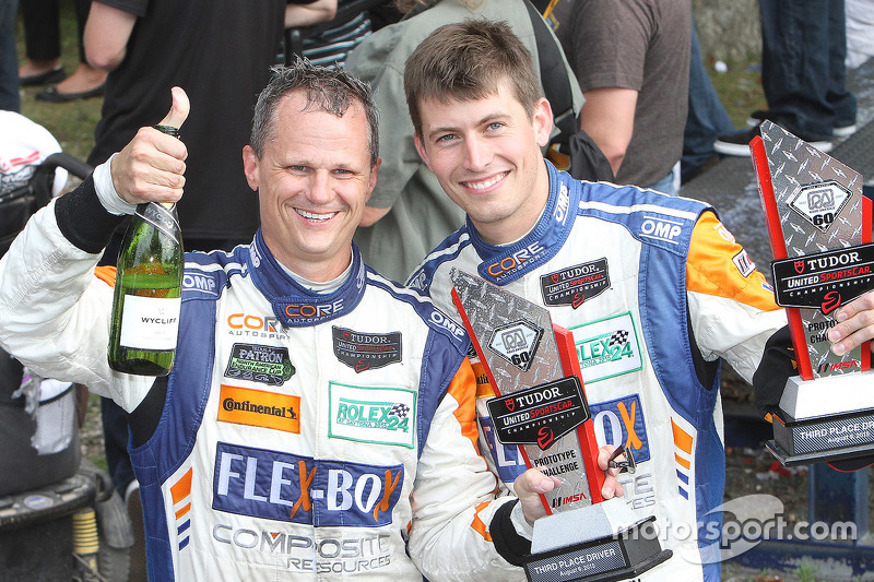 Peringkat ketiga di kelas PC: #54 CORE autosport Oreca FLM09: Jon Bennett, Colin Braun