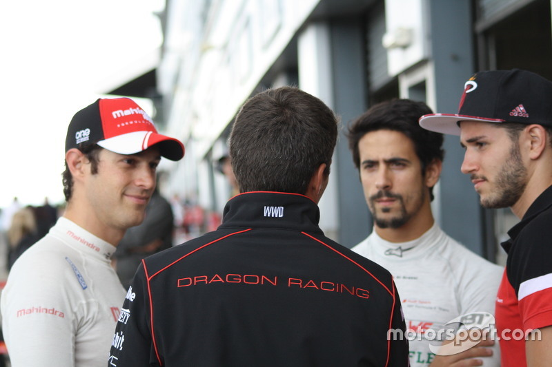 Bruno Senna, Mahindra Racing dan Lucas di Grassi dan Daniel Abt, ABT Schaeffler Audi Sport