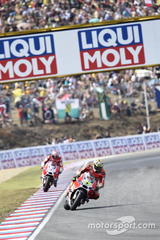 Andrea Iannone en Andrea Dovizioso, Ducati Team