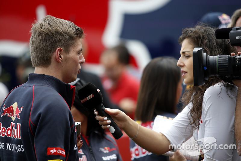 Max Verstappen, Scuderia Toro Rosso bersama the media