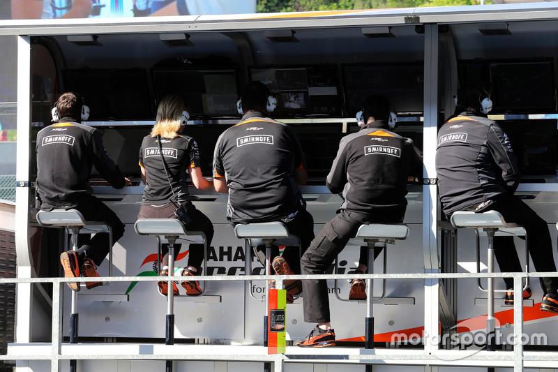 Sahara Force India F1 Team pit gantry