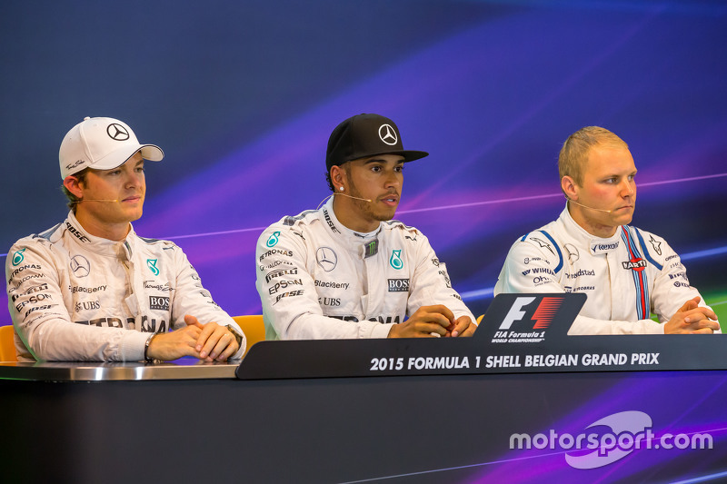FIA Press Conference,: Nico Rosberg, Mercedes AMG F1; Lewis Hamilton, Mercedes AMG F1; Valtteri Bottas, Williams