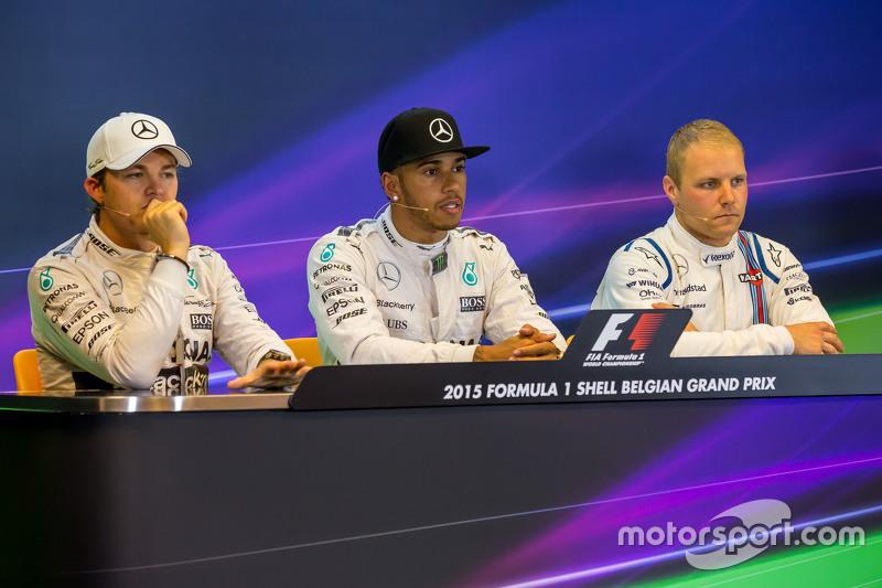 FIA Press Conference,: Nico Rosberg, Mercedes AMG F1; Lewis Hamilton, Mercedes AMG F1; Valtteri Bott