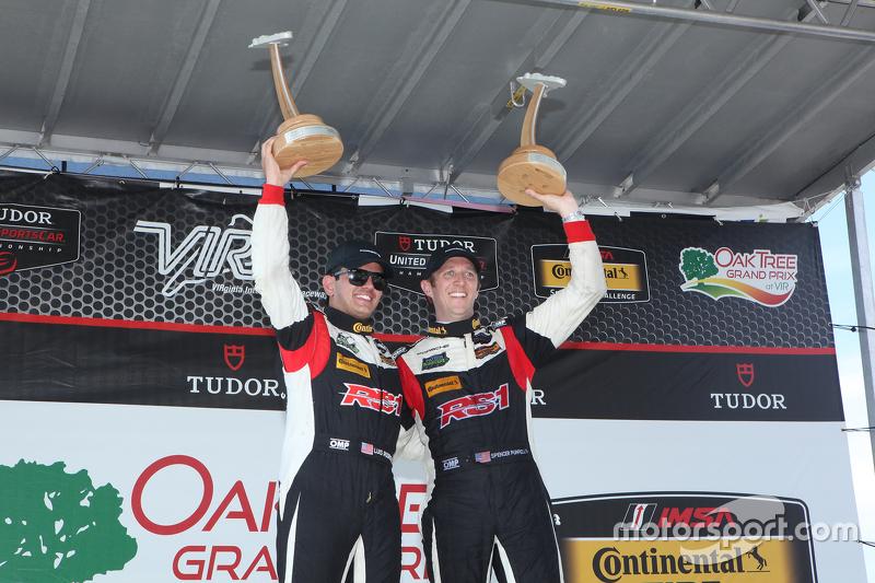 ST race winners #17 RS1 Porsche Cayman: Spencer Pumpelly, Luis Rodriguez Jr.