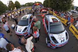Даниэль Сордо и Марк Марти, Hyundai i20 WRC, Hyundai Motorsport и Хейден Пэддон и Джон Кеннард, Hyundai i20 WRC, Hyundai Motorsport