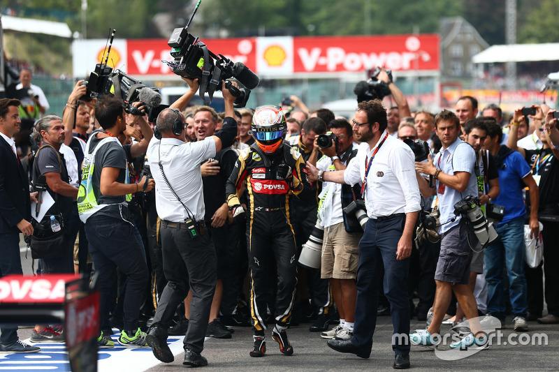 Posisi ke-3 Romain Grosjean, Lotus F1 E23