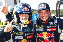 Le vainqueur Timmy Hansen, Team Peugeot Hansen, le deuxième, Davy Jeanney, Team Peugeot Hansen