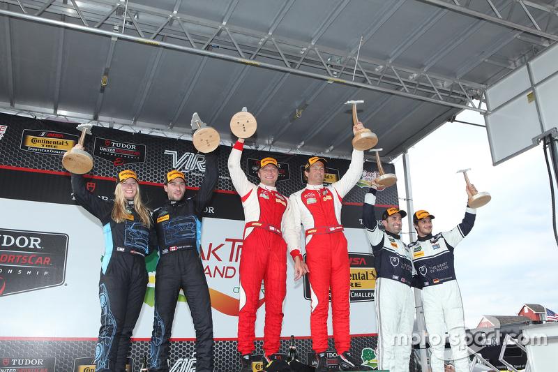 Race winners #63 Scuderia Corsa Ferrari 458 Italia: Bill Sweedler, Townsend Bell, second place #007