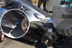 Detalle del Mercedes F1 W06 Híbrido