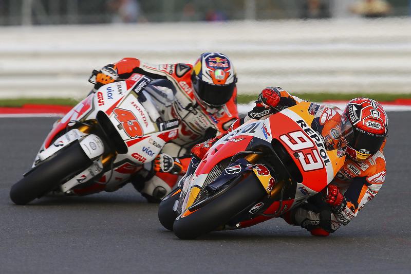 Marc Marquez, Repsol Honda Team, dan Jack Miller, Team LCR Honda