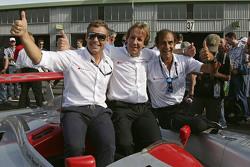 Les légendes d'Audi Tom Kristensen, Frank Biela, Emanuele Pirro