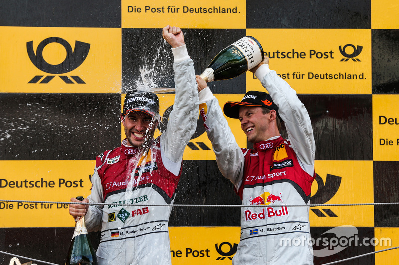 Podium: Mike Rockenfeller, Audi Sport Team Phoenix Audi RS 5 DTM and Mattias Ekström, Audi Sport Tea