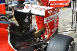 Ferrari, l'ala posteriore, dettaglio