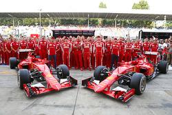 Марк Жене, тестовый пилот Ferrari, Кими Райкконен, Ferrari, Маурицио Арривабене, руководитель команд