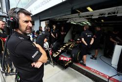 Грег Бэйкер, главный механик Lotus F1 Team