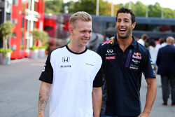 Kevin Magnussen, McLaren Test and Reserve Driver with Daniel Ricciardo, Red Bull Racing