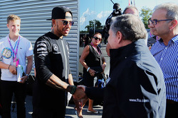 Льюис Хэмилтон, Mercedes AMG F1 и Жан Тодт, FIA President