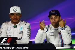 Lewis Hamilton, de Mercedes AMG F1 y Felipe Massa, Williams en la conferencia de prensa de la FIA