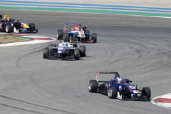 George Russell, Carlin Dallara Volkswagen and Sergio Sette Camara, Motopark Dallara Volkswagen and P