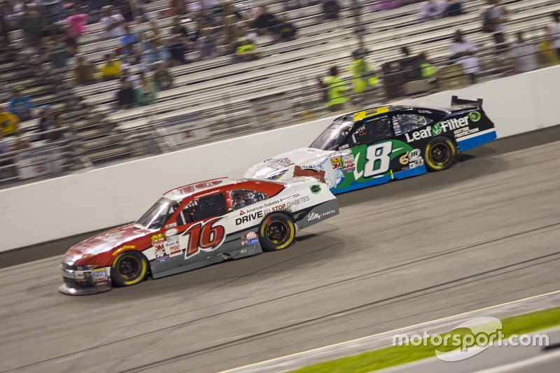 Ryan Reed, Roush Fenway Racing Ford and Blake Koch, TriStar Motorsports Toyota
