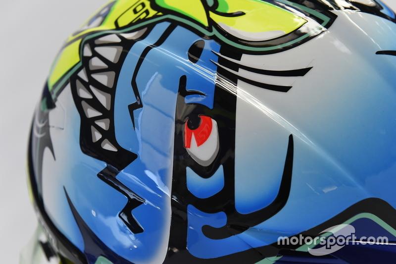 Special helmet design for Valentino Rossi, Yamaha Factory Racing ...