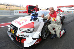 Hans-Joachim Stuck with the Audi RS 5 DTM race taxi