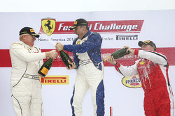 Coppa Shell podium: winner Jean-Claude Saala, second place Dan O'Neal