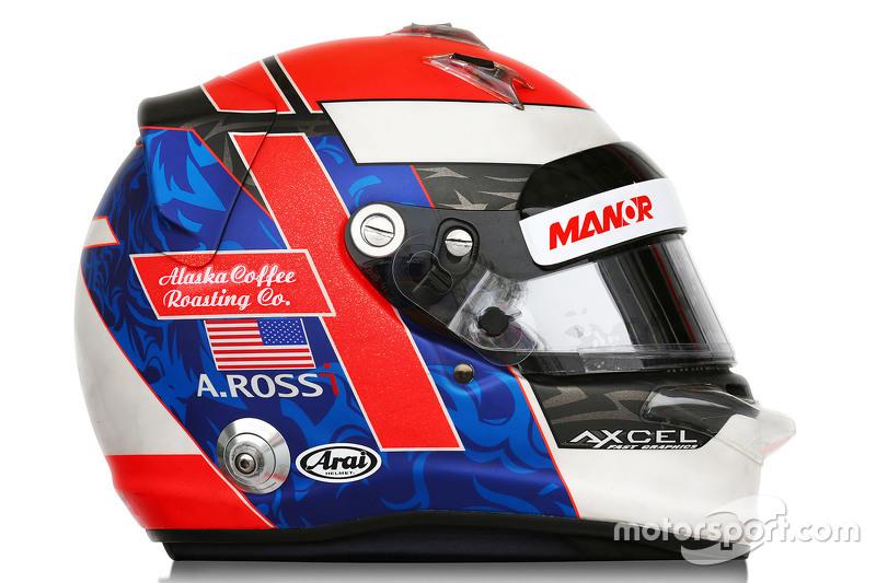 The helmet of Alexander Rossi, Manor F1 Team