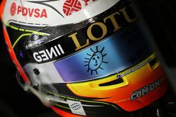Der Helm von Romain Grosjean, Lotus F1 Team