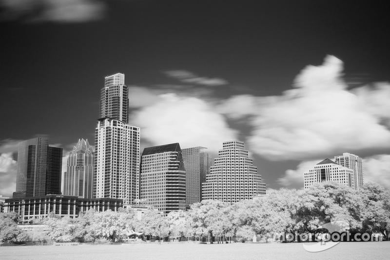 Downtown Austin mit Infrarot-Kamera