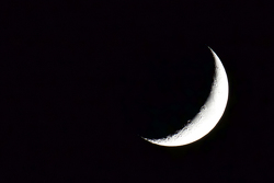La lune durant les essais de nuit