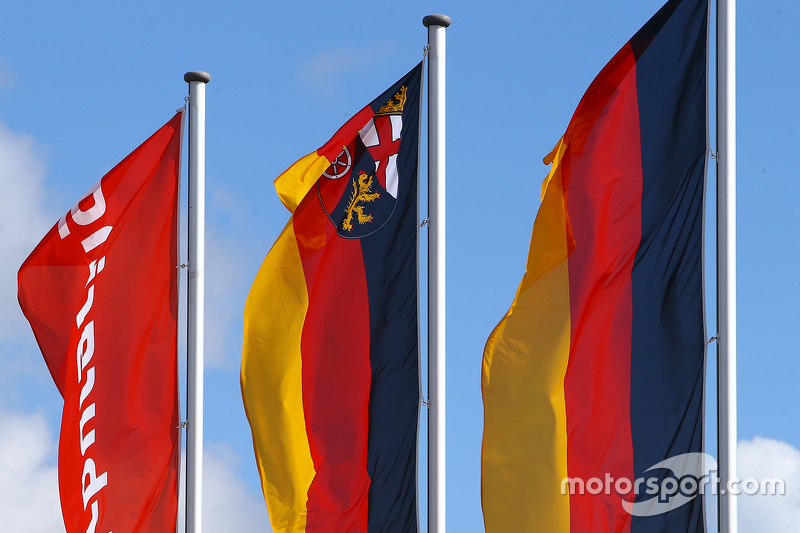 Nürburgring and Germany flags