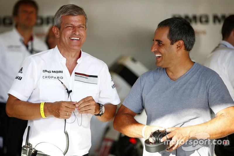 Fritz Enzinger, LMP1-Manager, mit Juan Pablo Montoya