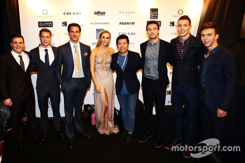 Fabio Leimer, Manor F1 Team Piloto de pruebas y de reserva, Stoffel Vandoorne, McLaren Piloto de pruebas y de reserva, Adrian Sutil, Williams Piloto de Reserva, Carmen Jorda, Lotus F1 Team Piloto de desarrollo, Jolyon Palmer, Lotus F1 Team Piloto de prueba