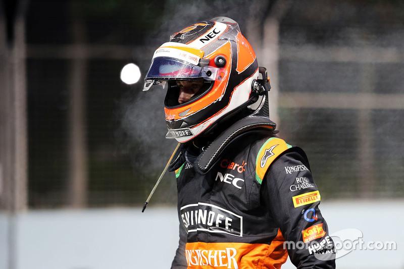 Nico Hulkenberg, Sahara Force India F1 crashed out of the race
