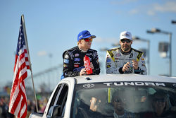 Chris Buescher, Roush Fenway Racing and Paul Menard, Richard Childress Racing