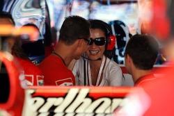 Michael Schumacher with Michelle Yeoh Girlfriend of Jean Todt