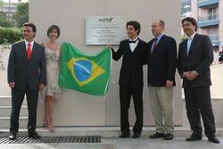 Plaque for Monaco Senna Celebration, Vivian Senna, Bruno Senna, GP2 Adren International ve Prens Al