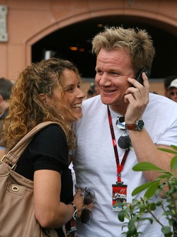 Gordon Ramsay, Famous Chef with his wife Cayetana