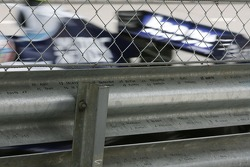 Years past grid positions marked on the armco barrier