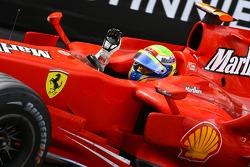 Third place Felipe Massa, Scuderia Ferrari, F2007