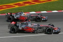 Start, Lewis Hamilton, McLaren Mercedes, MP4-22 and, Fernando Alonso, McLaren Mercedes, MP4-22