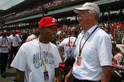 Hip-hop star Pharrell Williams and Dr. Dieter Zetsche, Chairman of Daimler